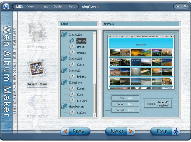 Web Album Maker 2.20
