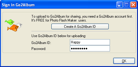 Sign in to Go2Album