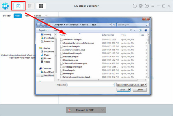 Tutorial about Any eBook Converter for Windows