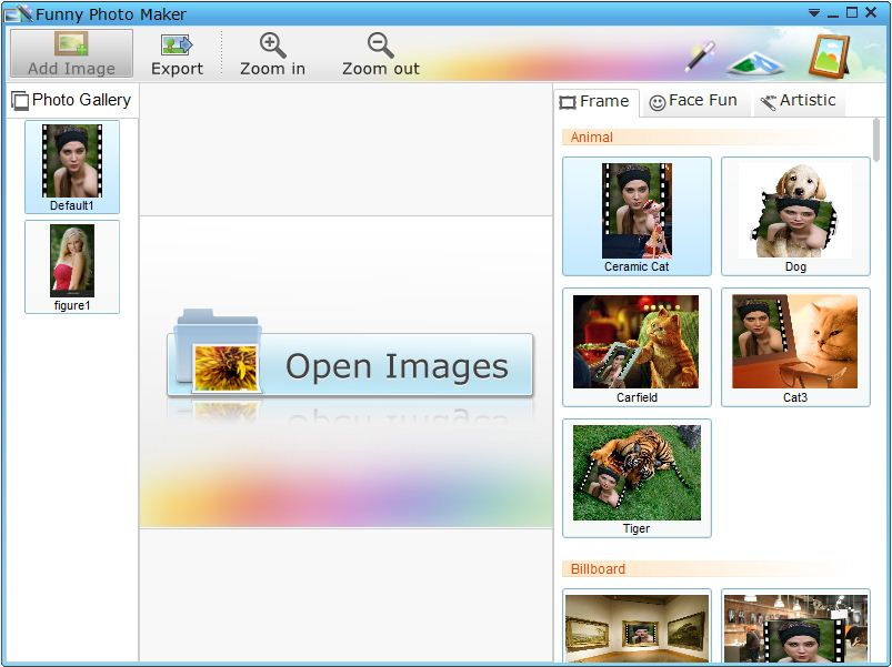 Main window of Flash Banner Maker