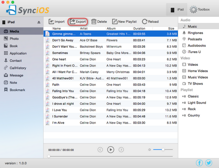 export music to Mac