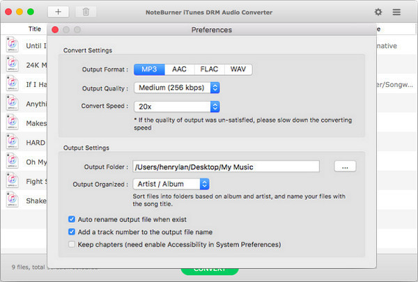 Tutorial about NoteBurner iTunes DRM Audio Converter for Mac