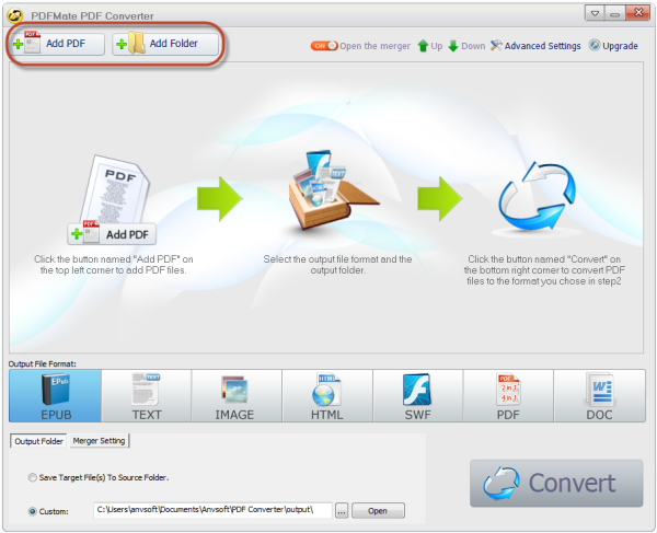 Add PDF files to PDF Converter Pro.