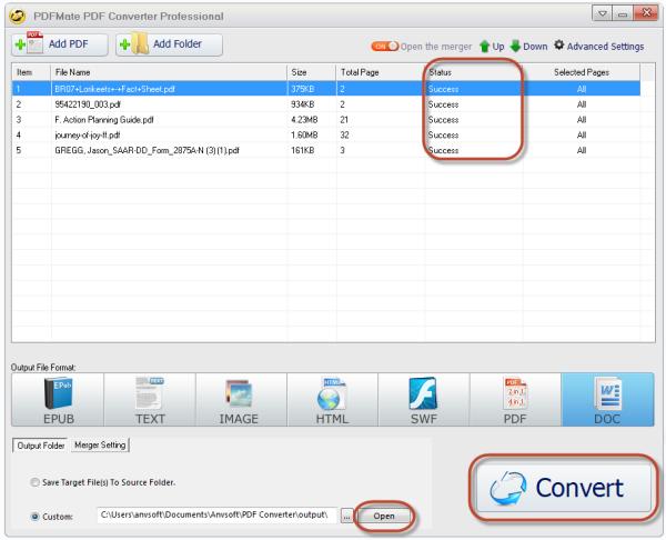 Tutorial - Convert PDF to EPUB/TEXT/IMAGE/HTML/SWF/PDF/DOC
