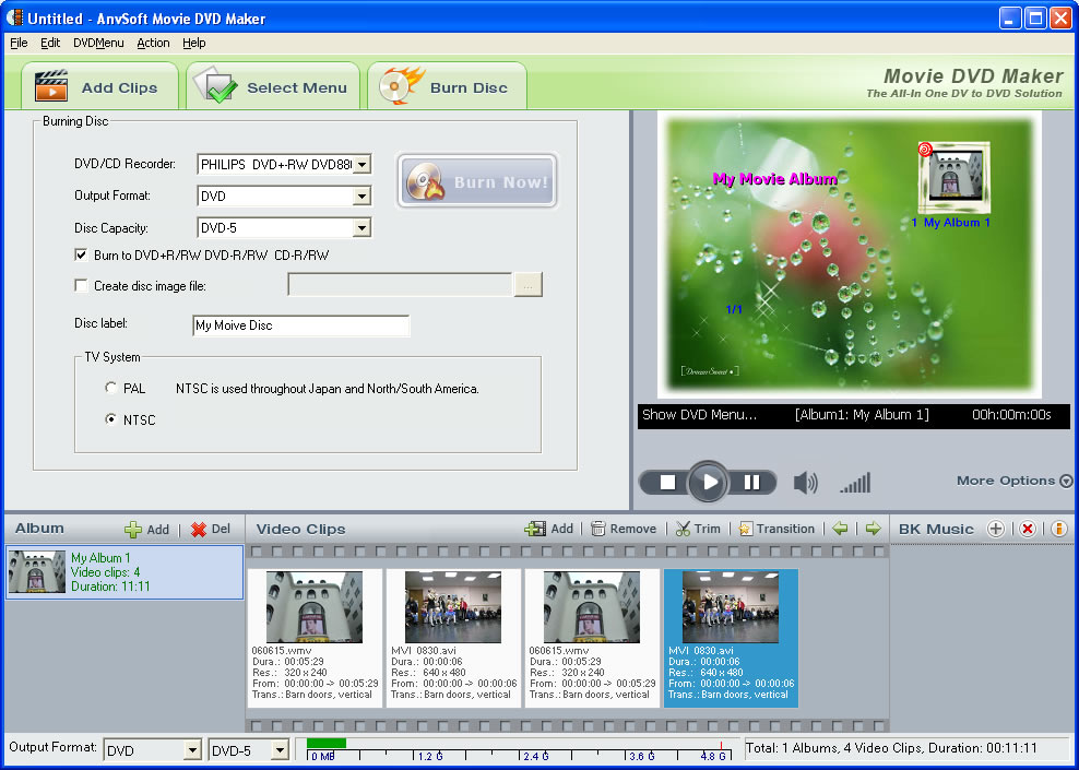 Screenshots Of Movie Dvd Maker