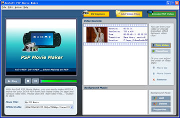 Click to view AnvSoft PSP Movie Maker 1.10 screenshot
